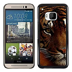 Design for Girls Plastic Cover Case FOR HTC One M9 Tired Sleepy Big Cat Orange Fur Tiger OBBA