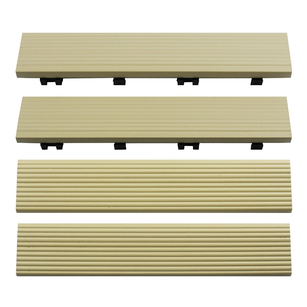 NewTechWood US-QD-SF-ZX-SD 1//6 x 1 ft 4-Pieces//Box Quick Composite Deck Tile Straight Trim in Sahara Sand