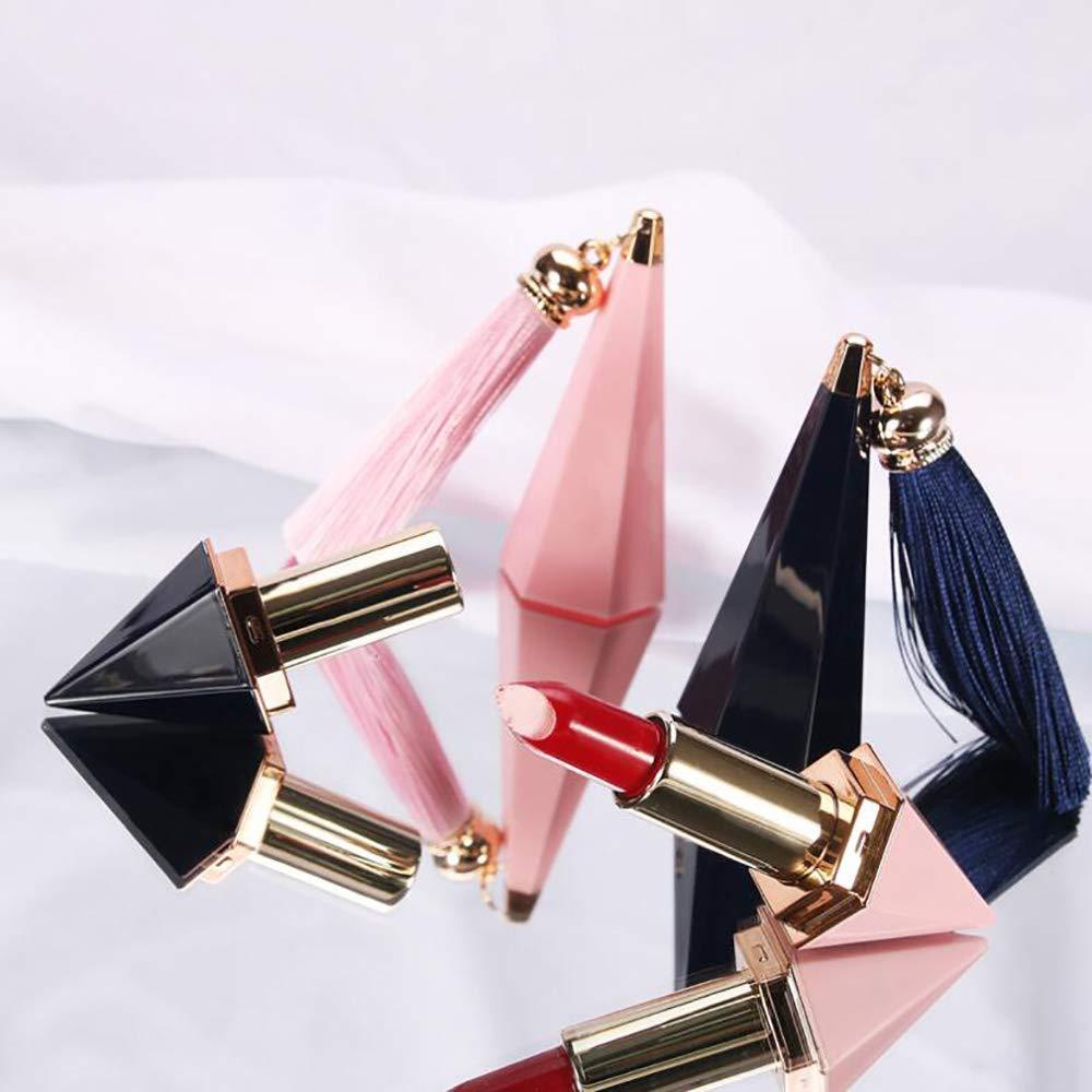 NUANNUAN 8 Pieces Plastic Empty Diamond Lip Gloss Tubes Diamond Shape Lipstick Containers with Tassels Lip Balm Tubes for DIY Lip Stick Beauty Accessories 61j2BjzFsviL