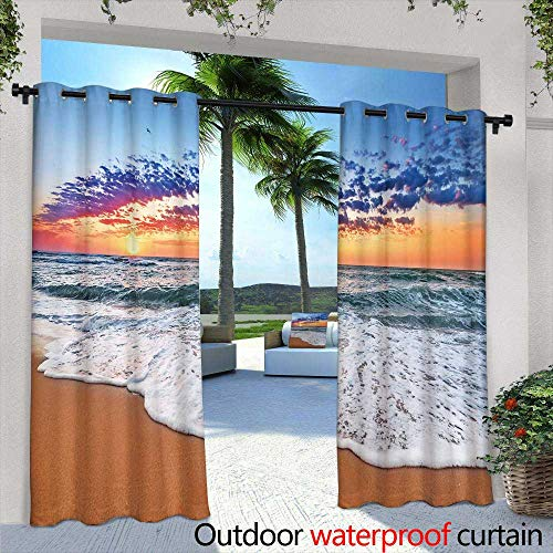 Lightly Outdoor Privacy Curtain for Pergola,Colorful Aspen Trees in Snow at Kebler Pass Colorado,W72 x L84 Thermal Insulated Water Repellent Drape for Balcony (Best Privacy Trees Colorado)