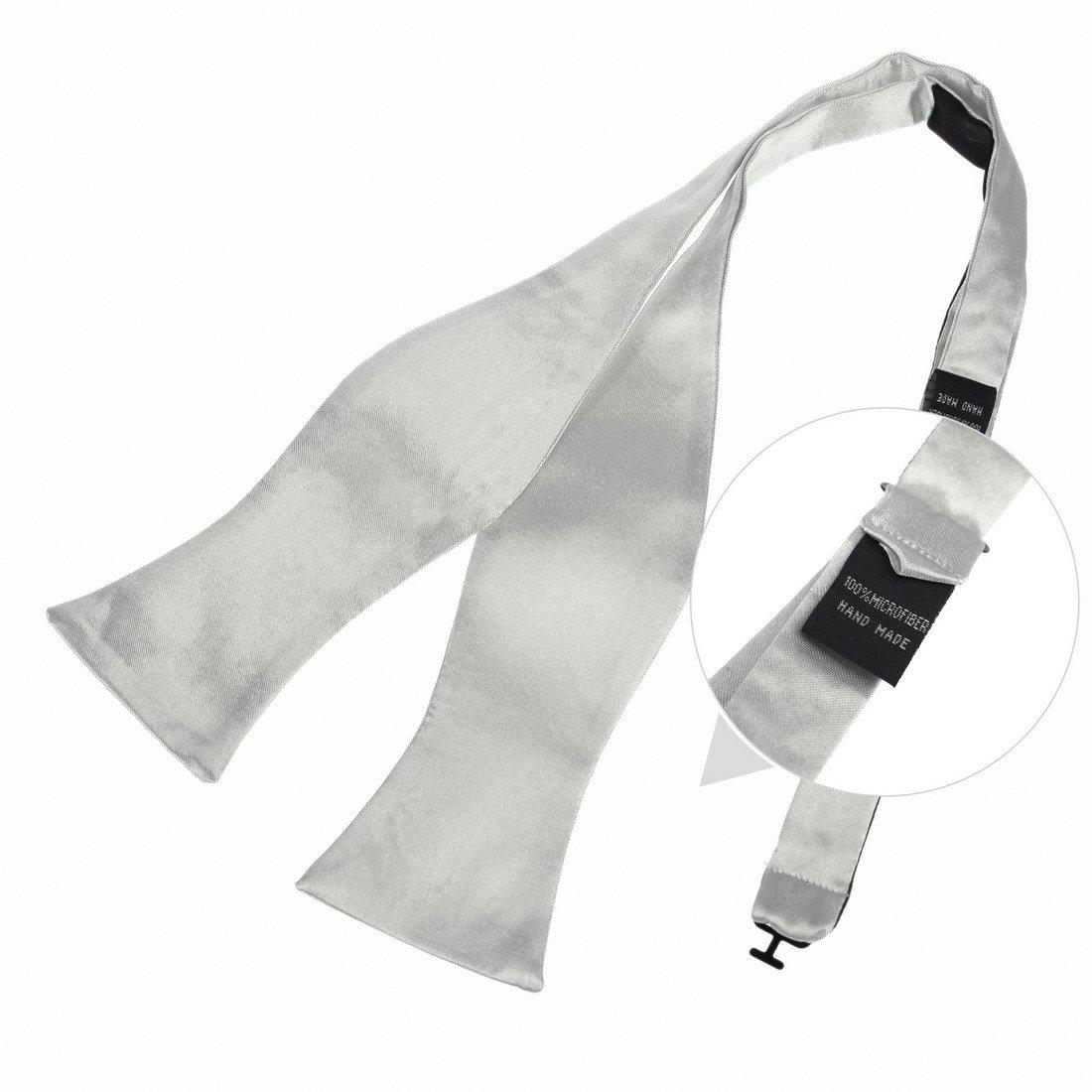 DBA7E01C Midnight Blue Plain Bridegrooms Self Tie Woven Microfiber Boss Self Tie Bow Tie for Work-utility By Dan Smith