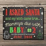 Katie Doodle Christmas Pregnancy Announcement Poster Sign Customizable