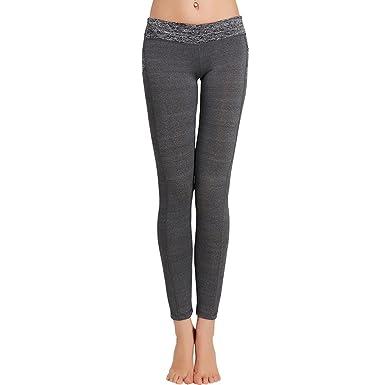 c7b460a20eb4 TianWlio Leggings Damen Modische Mesh Leggings Fitness Hoher Bund Hosen  Gaze Yoga Pants Joggen Workout Schwarz Fitness Sport Leggings Fitness  Leggings  ...