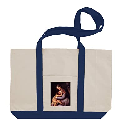 8930f8b4ee08 durable modeling Maria With Child (Titian) Cotton Canvas Boat Tote ...