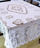 "Vinyl Lace Table Cloth - 60"" x 90"""