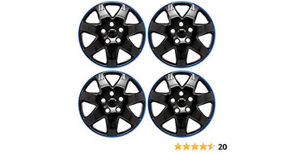 Wheel trim 15/inch Black Extra Strong Blue//Set of 4