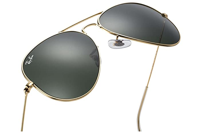583bd334e1 Amazon.com  Ray Ban RB3025 L0205 58 Gold Gray Green Large Aviator Sunglasses  Bundle-2 Items  Shoes