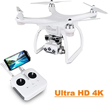 UPAIR Two dron cuadricóptero con cámara 3D 4K 2.4G Control Remoto FPV Transmisión en Vivo RC Quadcopter Drone, Modo Sígueme, Modo sin Cabeza y ...