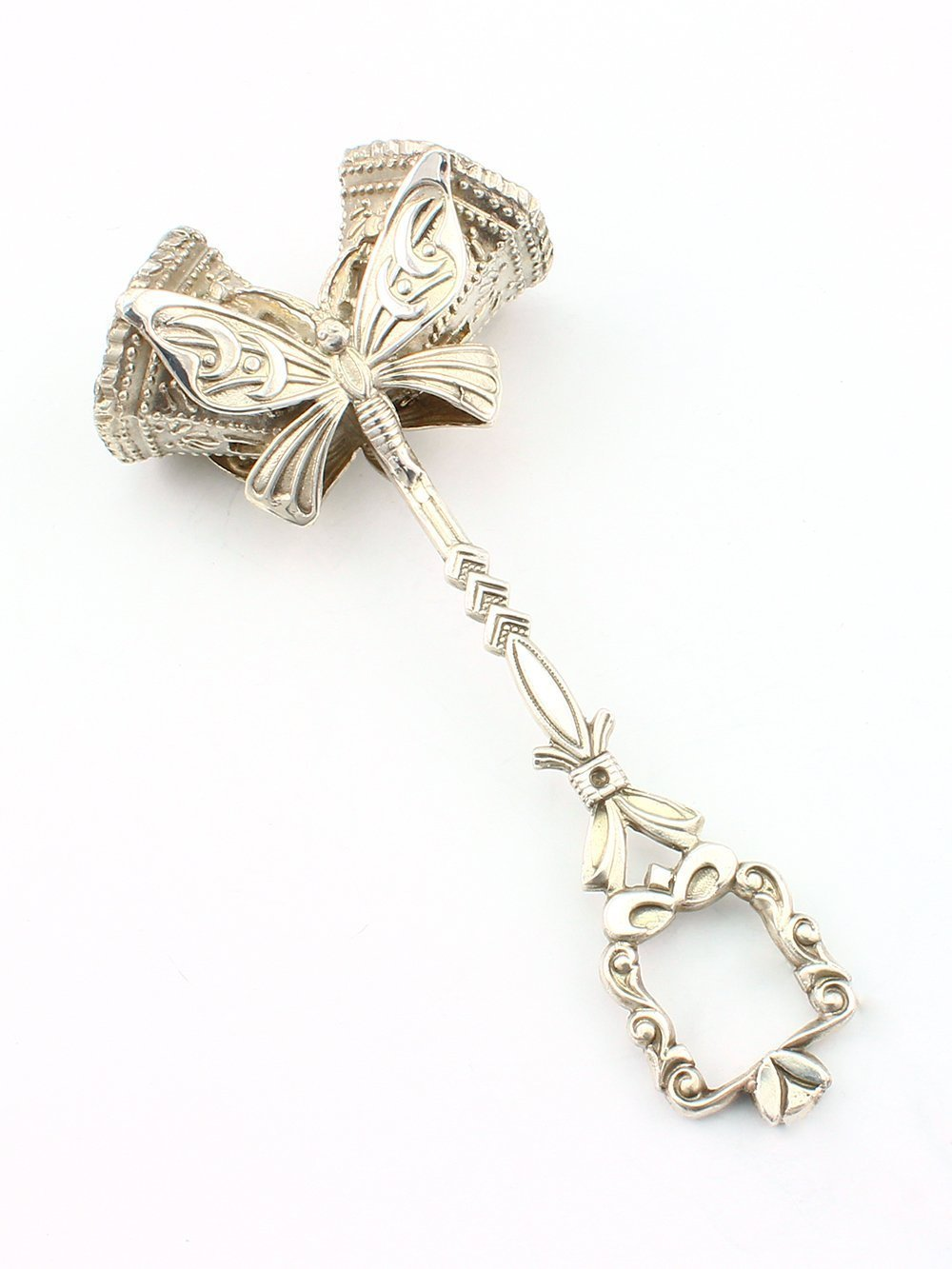 Silver Handmade Rattle ''Butterfly''