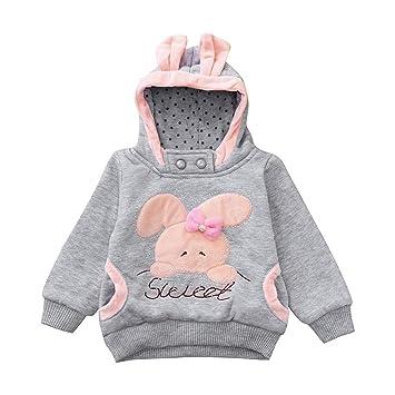 1658cbaf8569 Amazon.com   Winter Kids Clothes Baby Boys Girls Long Sleeve Rabbit ...