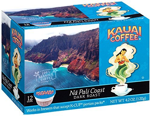Kauai Coffee Single-serve Pods, Na Pali Coast Dark Roast - 100% Premium Arabica Coffee from Hawaii's Largest Coffee Grower, Compatible with Keurig K-Cup Brewers - 72 Count (Coffee Arabica Premium 100)
