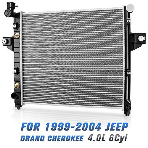 Radiator For 1999-2004 Jeep Grand Cherokee 6Cyl 4.0L L6 DWRD1006 ()