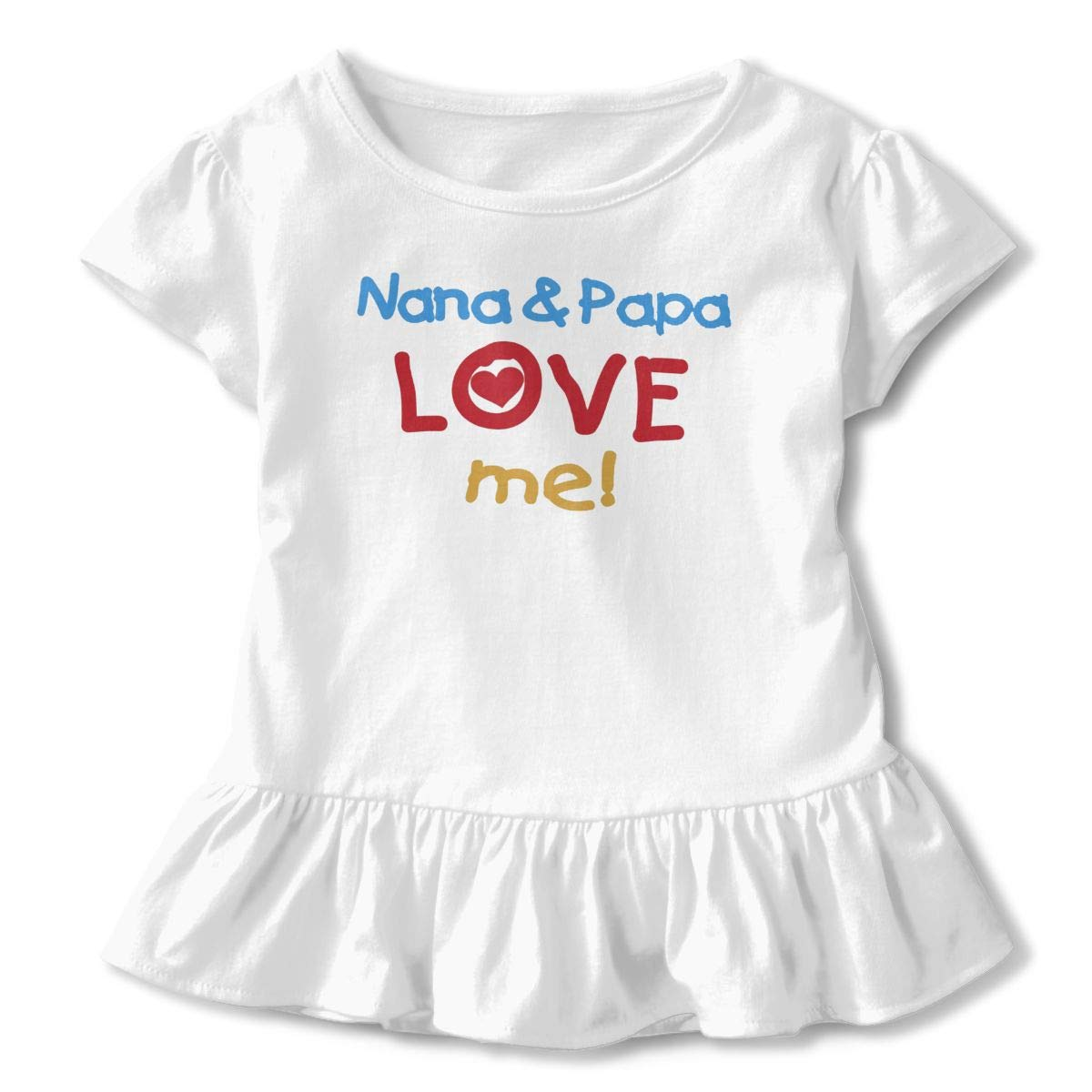 Nana and Papa Love Me Baby Flounces Skirts Kids Pretty T Shirt Dress Cotton Outfits