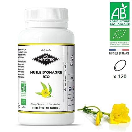 Aceite de Onagra orgánico, 120 Cápsulas (500mg): Amazon.es: Belleza