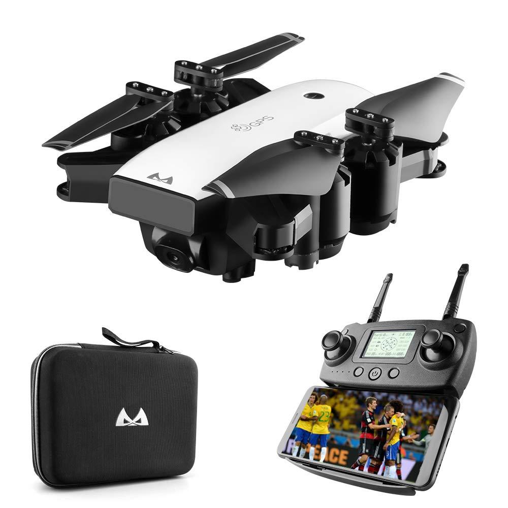Four Drohne mit 1080p HD-Kamera Live-Video und GPS zu Hause, RC Quadcopter für Erwachsene Anfänger und bürstenlose Motoren, 5G WiFi-Übertragung