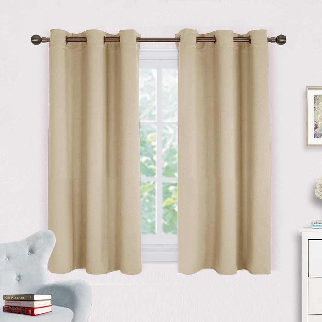 Blackout Curtain Panels for Living Room - Nicetown Thermal Insulated Grommet Blackout Draperies / Drapes for Window 2 Panels