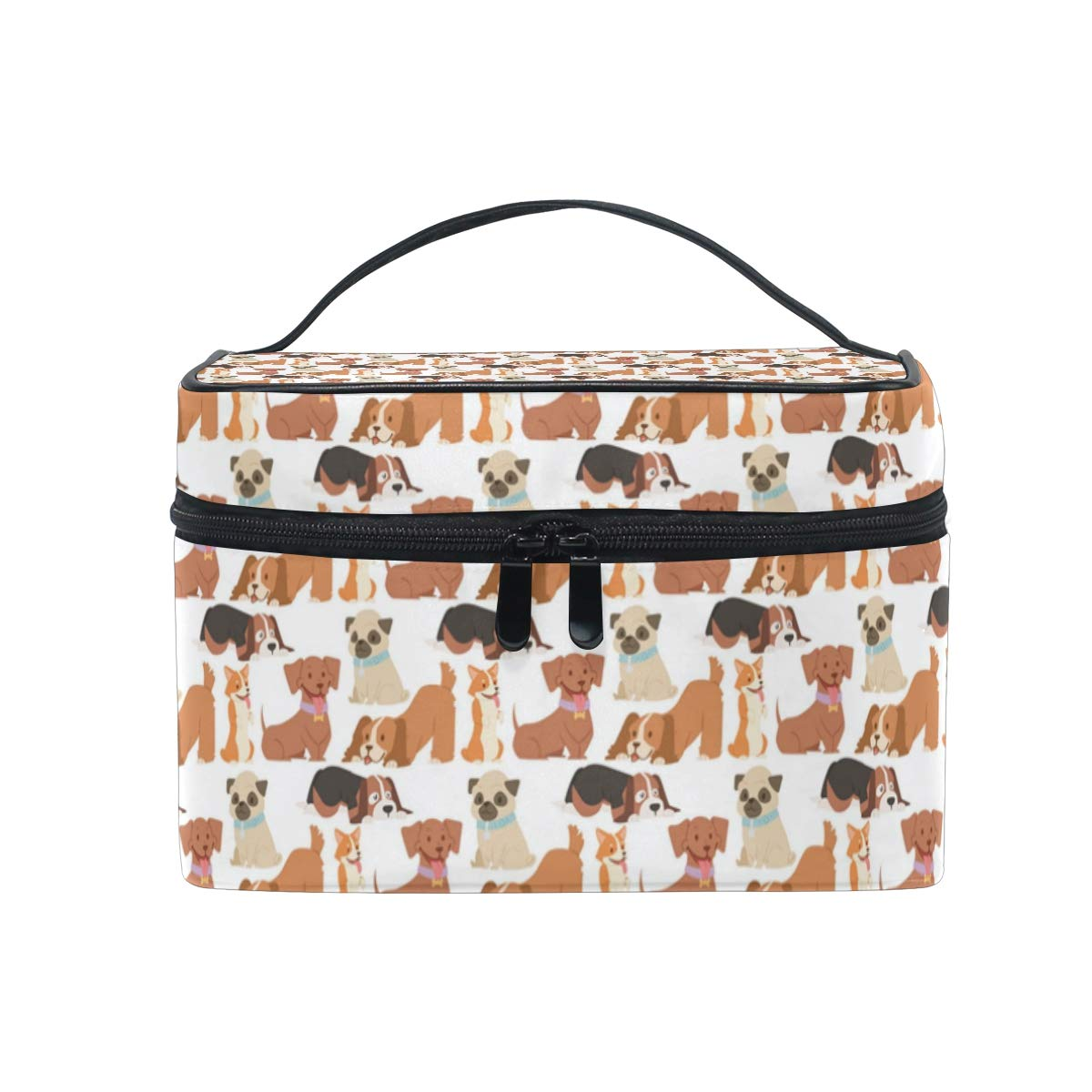 2a18a62c8494 Amazon.com : Cosmetic Bag Cute Puppy Playing DogsTravel Makeup Brush ...