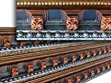 Fine Art Deco 22716 Hand Painted Crown Molding 5-3/8 In. Finished in Bronze, Copper and Sapphire.
