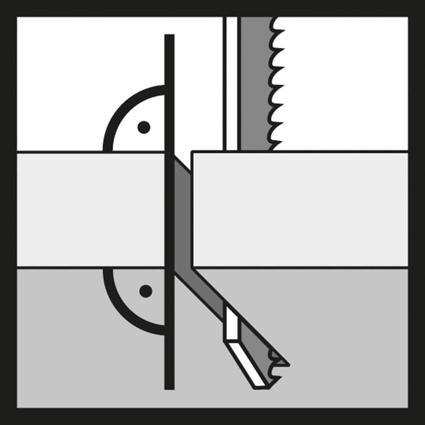 Stahl gebogener Zifferblatthalter 8-mm-Zifferblattanzeige Pleuelzifferblatt-St/ützst/änder zum Anschlie/ßen der Zifferblattanzeige