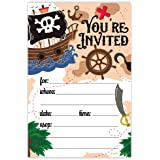 Amazon kids pirate birthday party invitations for boys 20 pirate birthday party invitations 20 count with envelopes filmwisefo