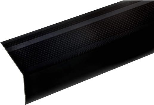 acerto 51040 Perfil angular de aluminio - 100cm 55x69mm bronce oscuro * Antideslizante * Robusto * Fácil instalación | Perfil de peldaño de escalera perfil de peldaño de aluminio: Amazon.es: Bricolaje y herramientas