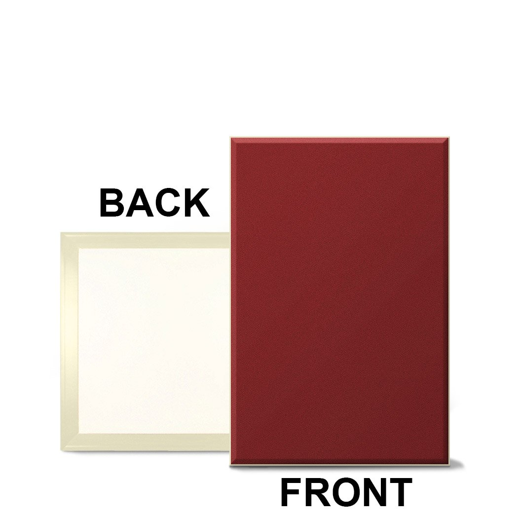 Fabricmate Magnetic ''Message Manager'' Fabric Bulletin Board 12''x18''x1/2'' Red