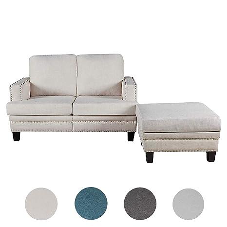 Amazon.com: Top Space - Sillón de 2 plazas para salón, sofá ...