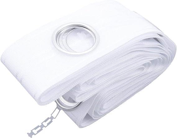 MultiWare Ruban Blanc Oeillets Anneaux Argent/és Pour Rideaux 10M