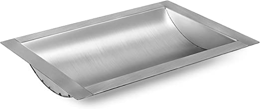 """12/"""" Brushed Finish x 10/"""" Stainless Steel Drop-In Deal Tray w d"""