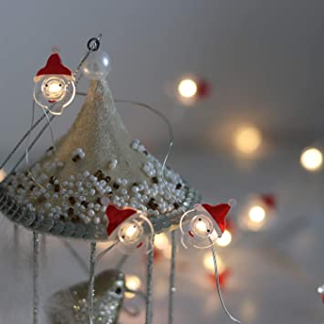 Battery Operated Christmas Lights Decorative String Lights LED 20 Santa  Claus Novelty Fairy Lights Flexible Copper - Amazon.com: Battery Operated Christmas Lights Decorative String