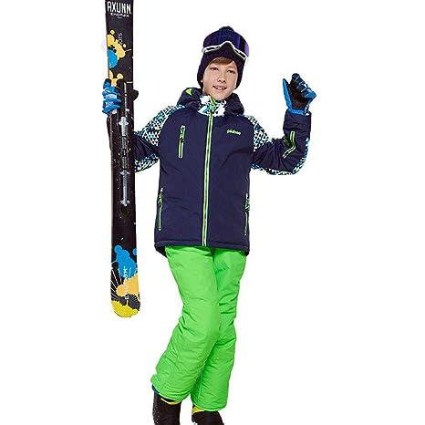 Aitry Traje de esquí para niño/niña Pantalones Impermeables + ...