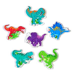 Morcart Refrigerator Magnets Cartoon Cute Dinosaur Magnets(6pcs)3D Pattern Suitable For Kitchen Kids Toys Student Locker Office Menu Message Board