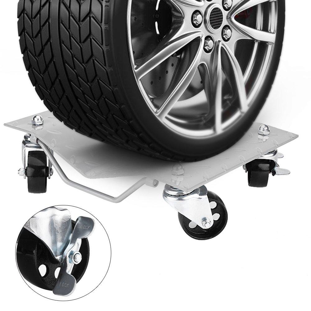 2 Sets Car Tire Wheel Dolly Ball Bearings Skates Auto Repair Moving Diamond at 1,500Lbs//680KG