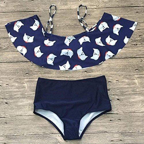 Bagno Da Ohq Donna Alta Cavezza Sexy Costume Set Blu Con A Vita Bikini Costumi 5Sqd0wn5