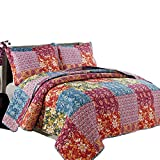 quilt clearance - Coast to Coast Living 3-Pc Quilt Sets Luxurious Soft Hypoallergenic (Mosaic, Queen)