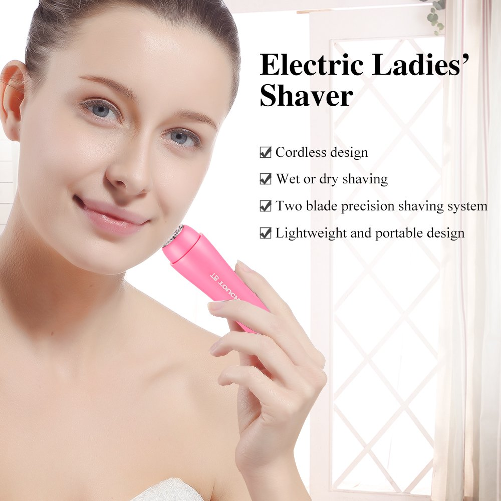 TOUCHBeauty Bikini Trimmer 2 in 1 Women Hair Shaver Removal Electric Razor for Wet and Dry Shaving, Great for Body Face Bikini Arm Areas TB-1653