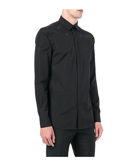 Givenchy Camisa de Algodón para Hombre - Negro, 39 (cm - Cuello)