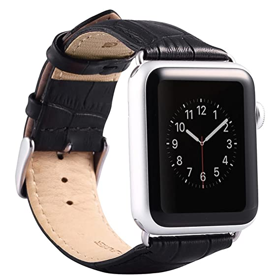 Valkit for Apple Watch Band - iWatch Bands 38mm Genuine Leather Strap iPhone  Smart Watch Band e7f0d98f44f5