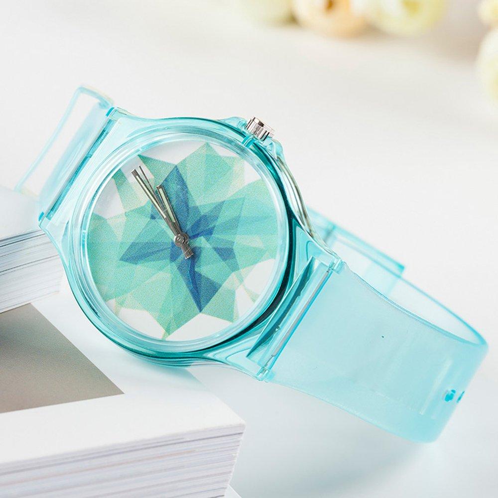 Tonnier Azul Translúcido Resina Estudiante Relojes de Banda para  Adolescentes Chicas jóvenes Relojes Hielo Crack  Amazon.com.mx  Deportes y  Aire Libre 7075195ac39b