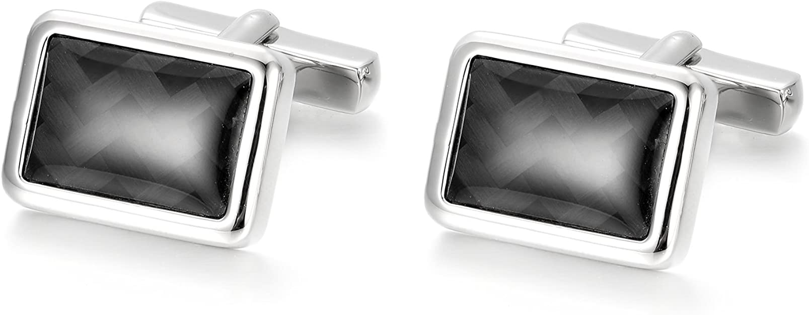 Cufflinks for Men Anfly Mens Cufflinks Unique and Special Patterns to Choose from Rhodium Plated 100/% Handcrafted for Wedding Business Shirts