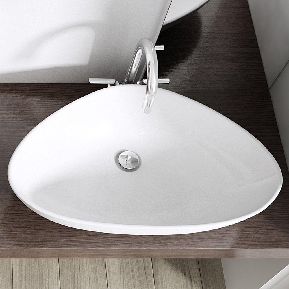 BTH: 67x44x15 cm Design Aufsatzwaschbecken Brüssel895, aus Keramik ... | {Aufsatzwaschbecken oval mit unterschrank 87}