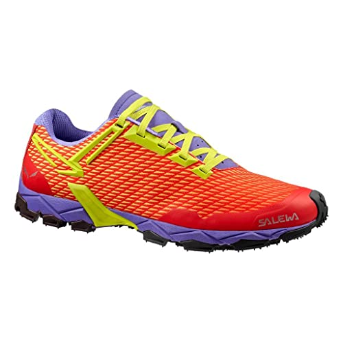 SALEWA Lite Train, Scarpe Sportive Outdoor Donna, Rosso (Hot Coral/Citro 1666), 35 EU