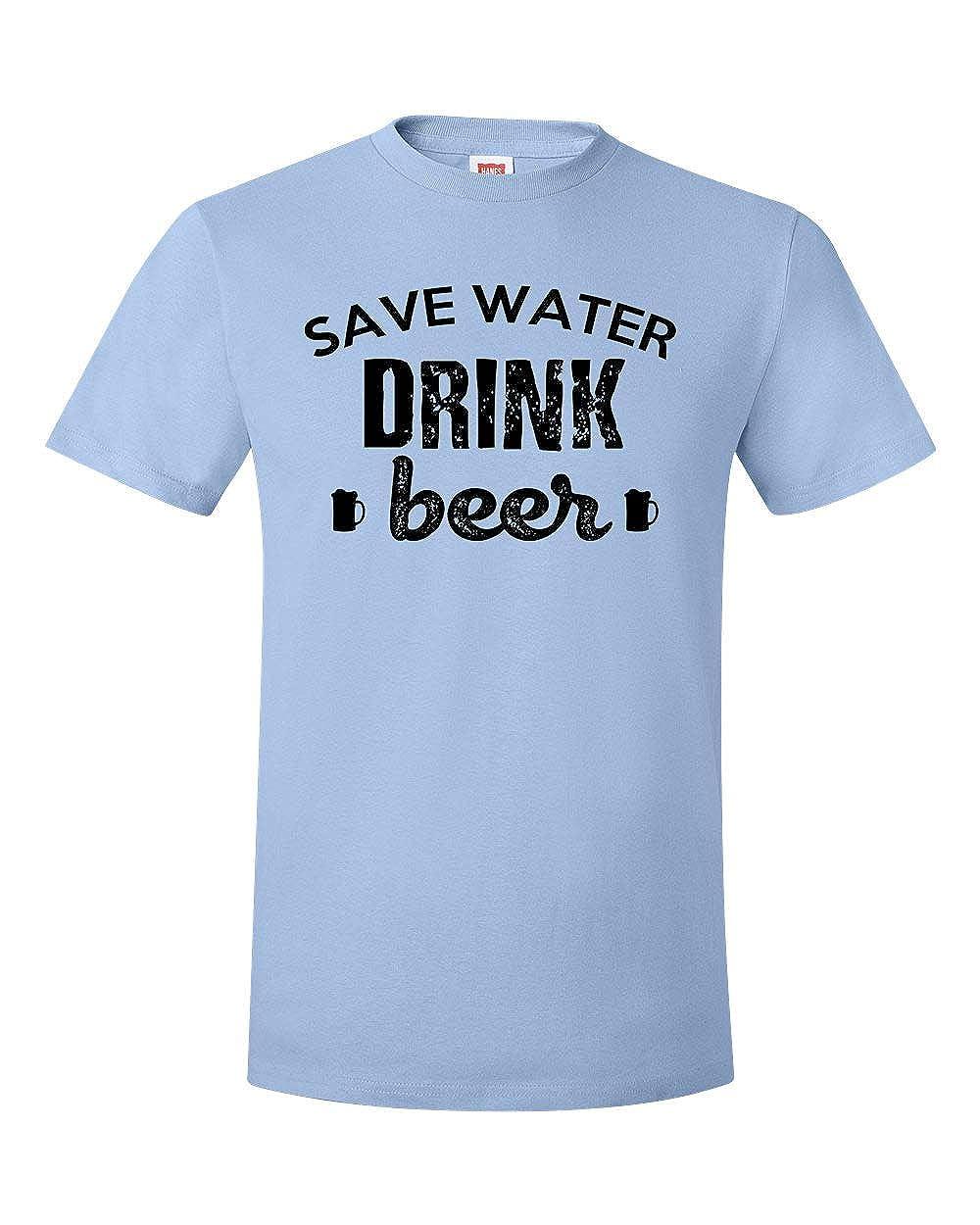 Custom Apparel R Us Save Water Drink Beer Womens Mens Short Sleeve