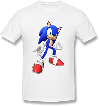 Amazon Com Next Style Men S Sonic The Hedgehog 3d Design Funny White T Shirts Clothing
