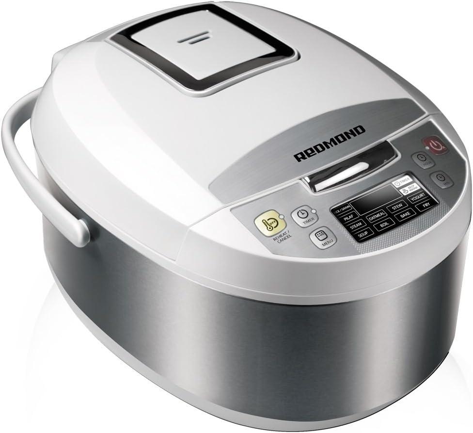 Redmond Multicooker RMC-M4500E, 700 W, 5 litros, 60 Decibelios, Blanco + metálico, 10 Velocidades: Amazon.es: Hogar
