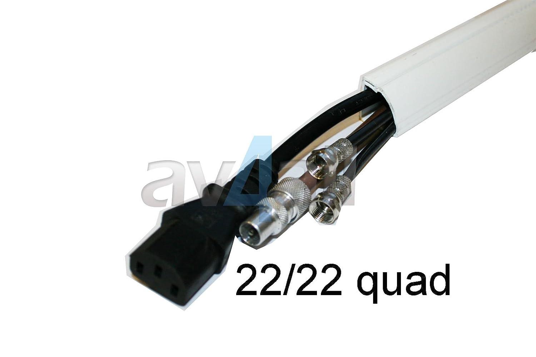 D-Line 22mm x 22mm 2.0m Quadrant White Trunking D222QSWSA