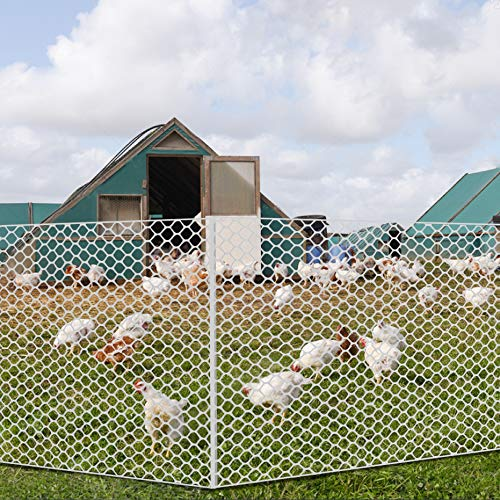 V Protek Poultry Netting High Strength Plastic Poultry Fence for Flower Plants Support,Chicken Net Fence 2/5