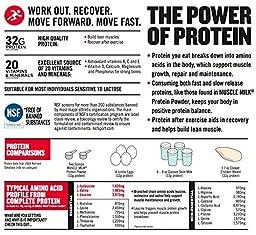 Muscle Milk Genuine Protein Powder, Chocolate, 32g Protein, 2.47 Pound