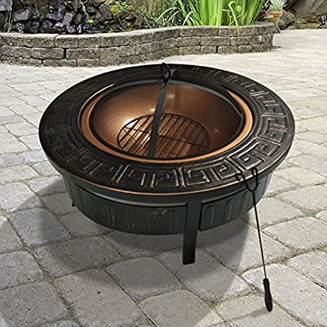 BillyOh - Cobertizo en 1 Ronda brasero para barbacoa Fire Pit barbacoa de carbón de al aire libre calentador de Patio barbacoa: Amazon.es: Jardín