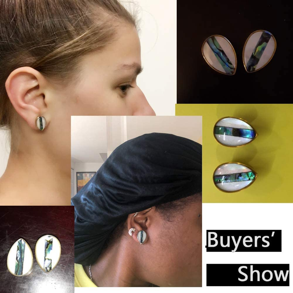 Casvort 2 PCS New Arrival Fashion Gold Ear Plugs Tunnels Conch Piercing Jewelry Ear Gauges Stretcher Pair Selling Body Ear Piercings 2g-5//8 inch